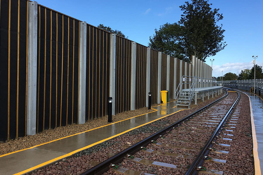 Rail noise barriers