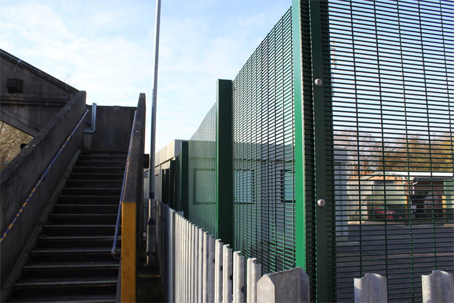 Train station security fencing