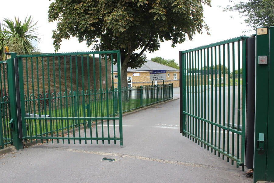 Electric school gate