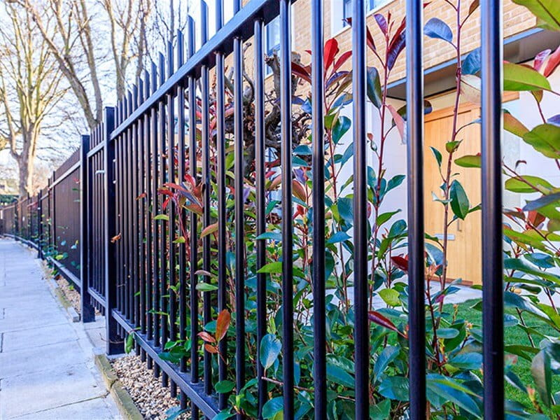Black Barbican Imperial Fence at Ashchurch Villas