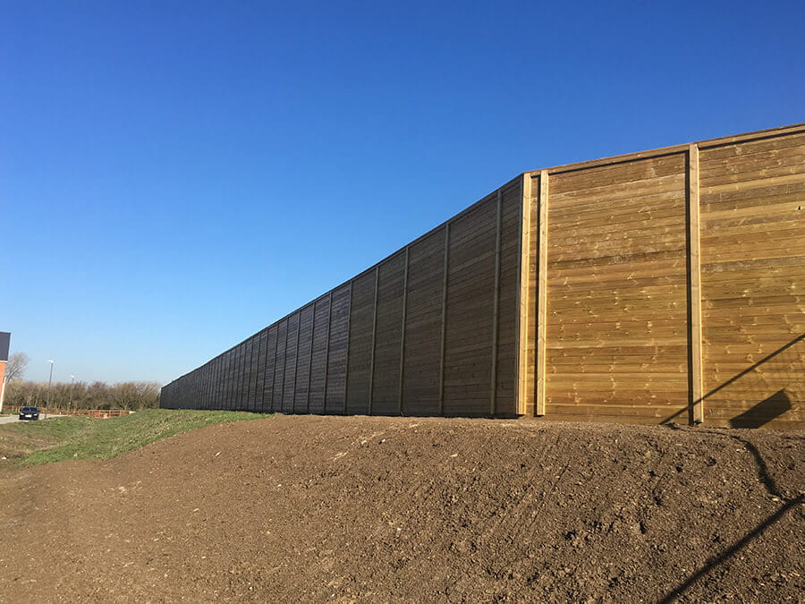 Acoustic fencing for housing