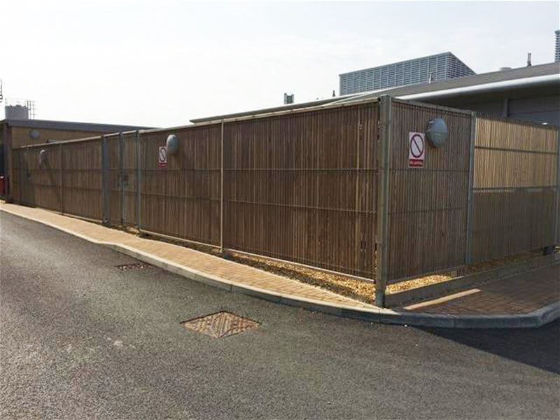 Timber and steel combination fencing