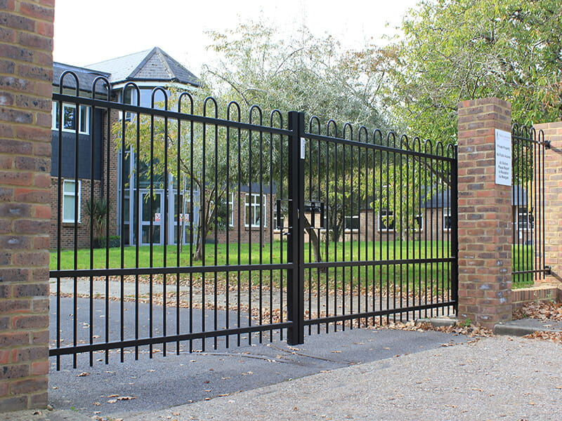 School entrance gate