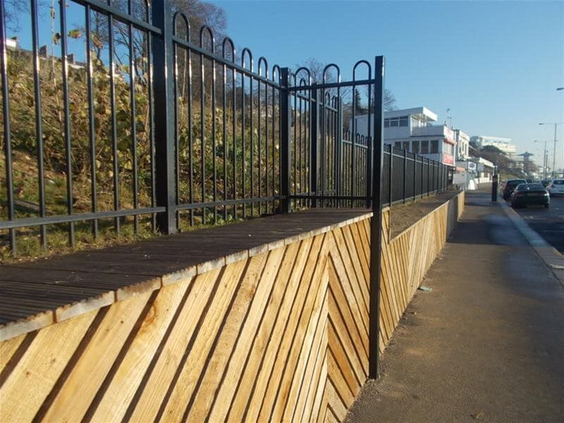 Marine coated fencing