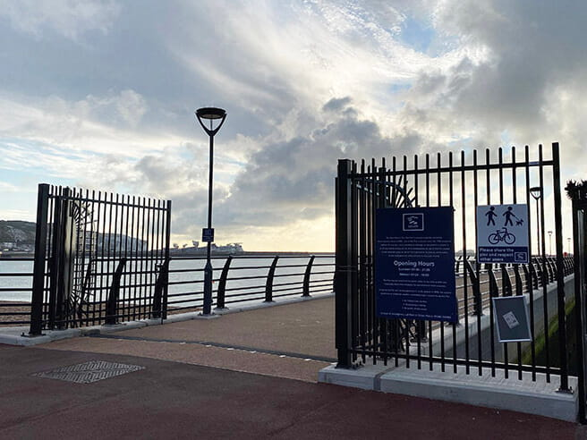 Pier security gates