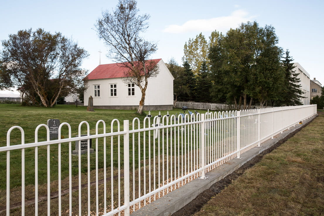 Church security fencing