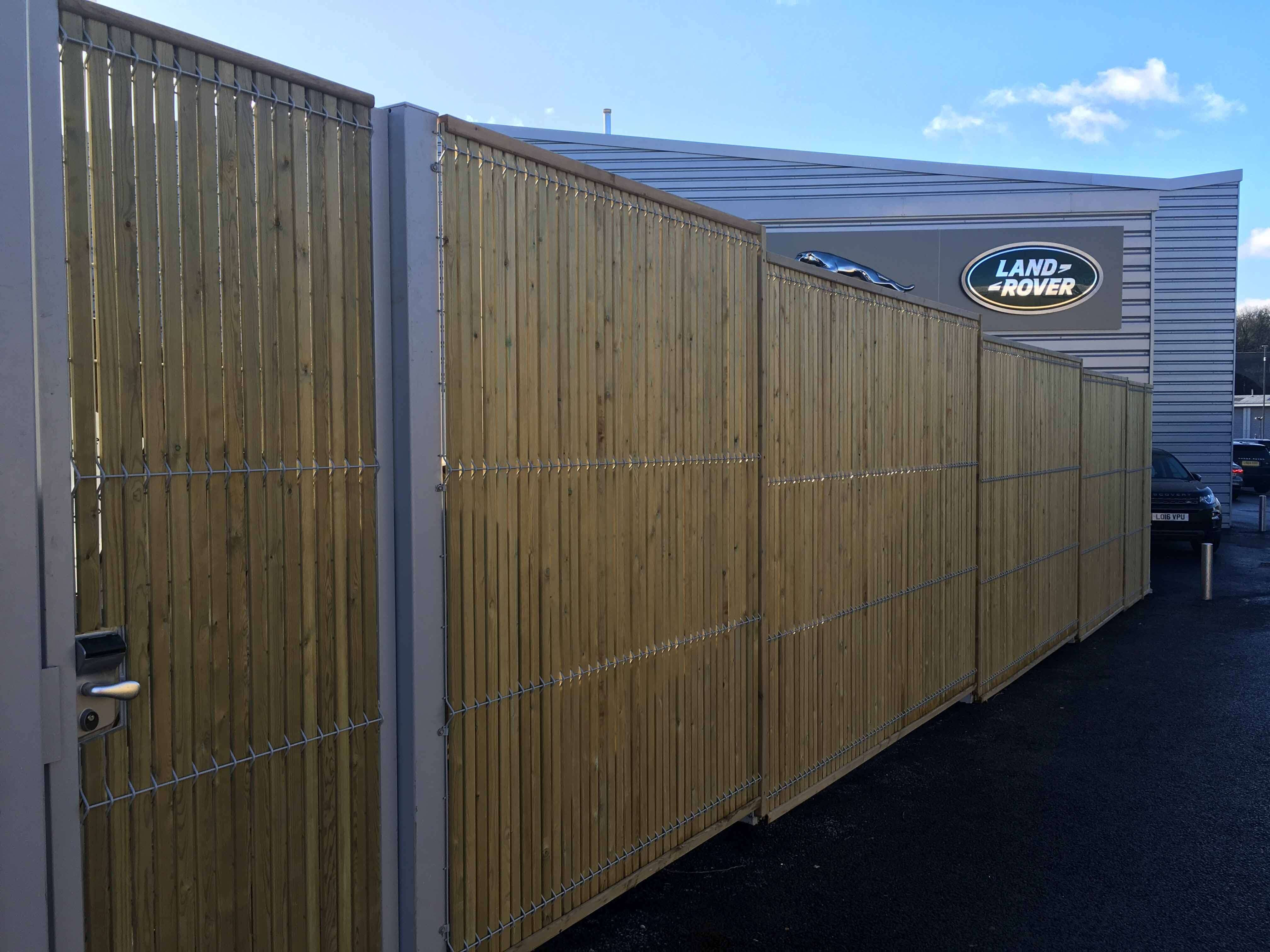 Commercial property fencing