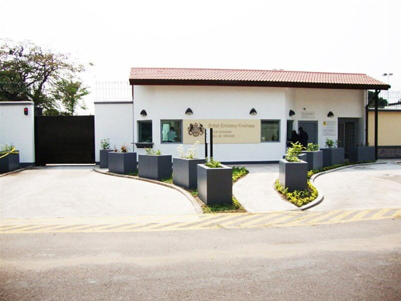 British Embassy building Congo Africa
