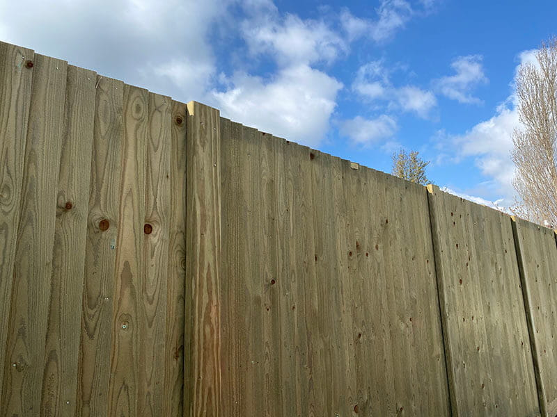 Commercial timber fencing