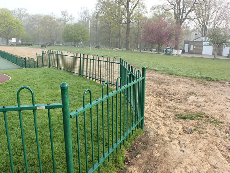 Mote Park play area fencing