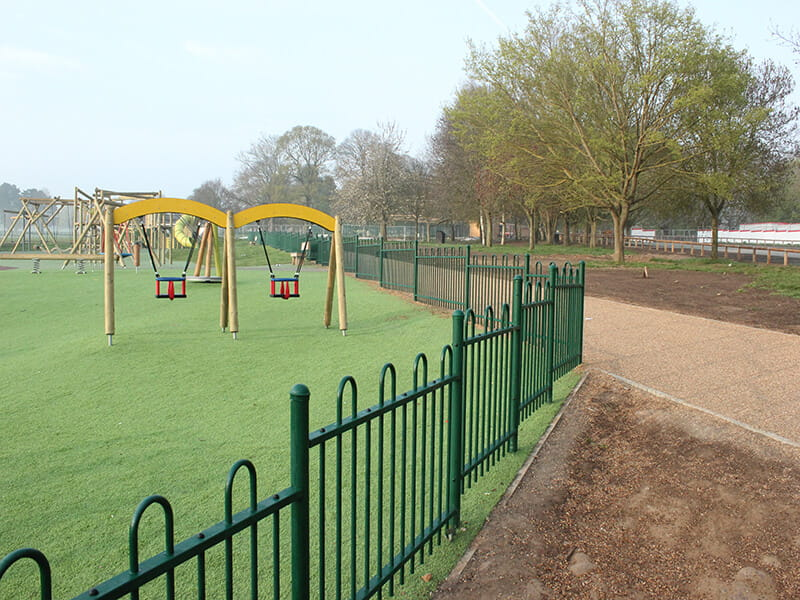 outdoor play area fencing