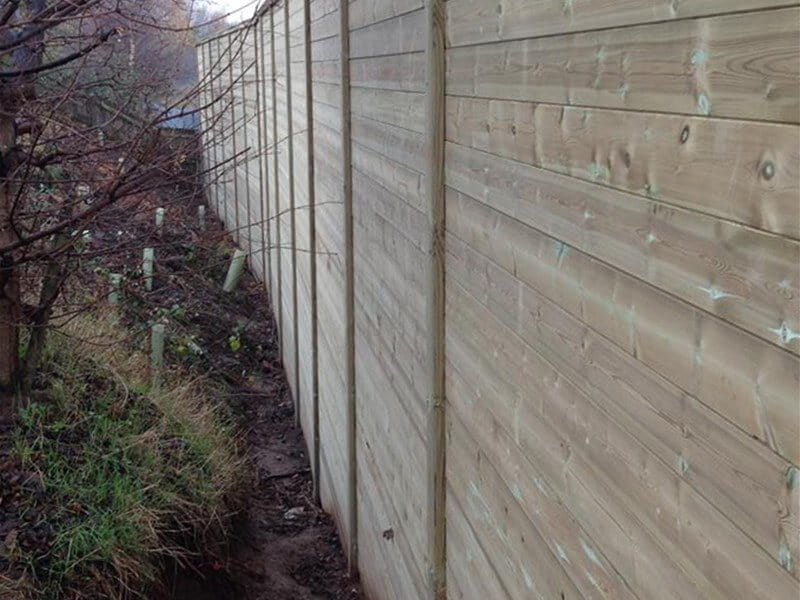 Timber Acoustic Fencing to stop rail noise