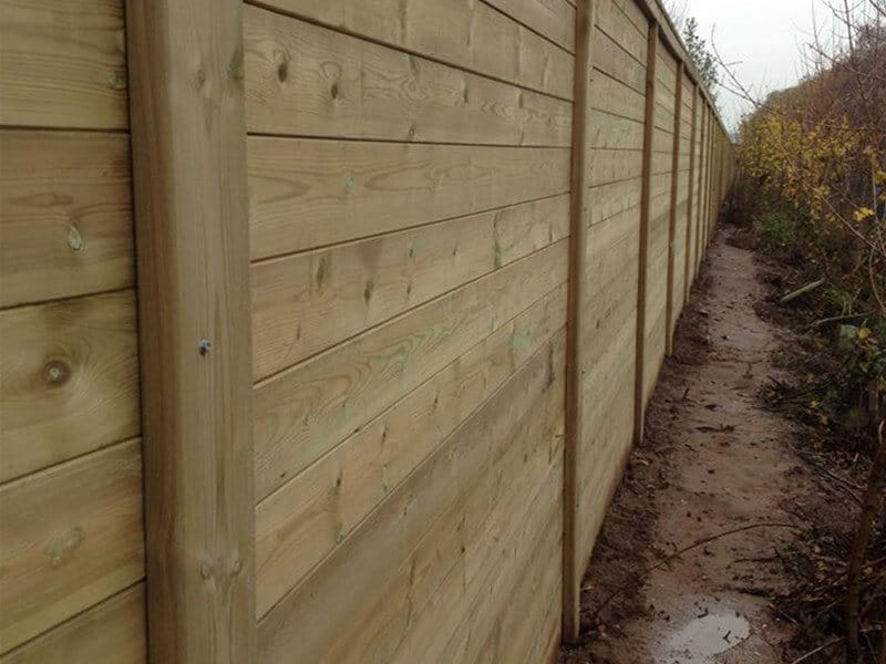 Timber Acoustic Railway Fence
