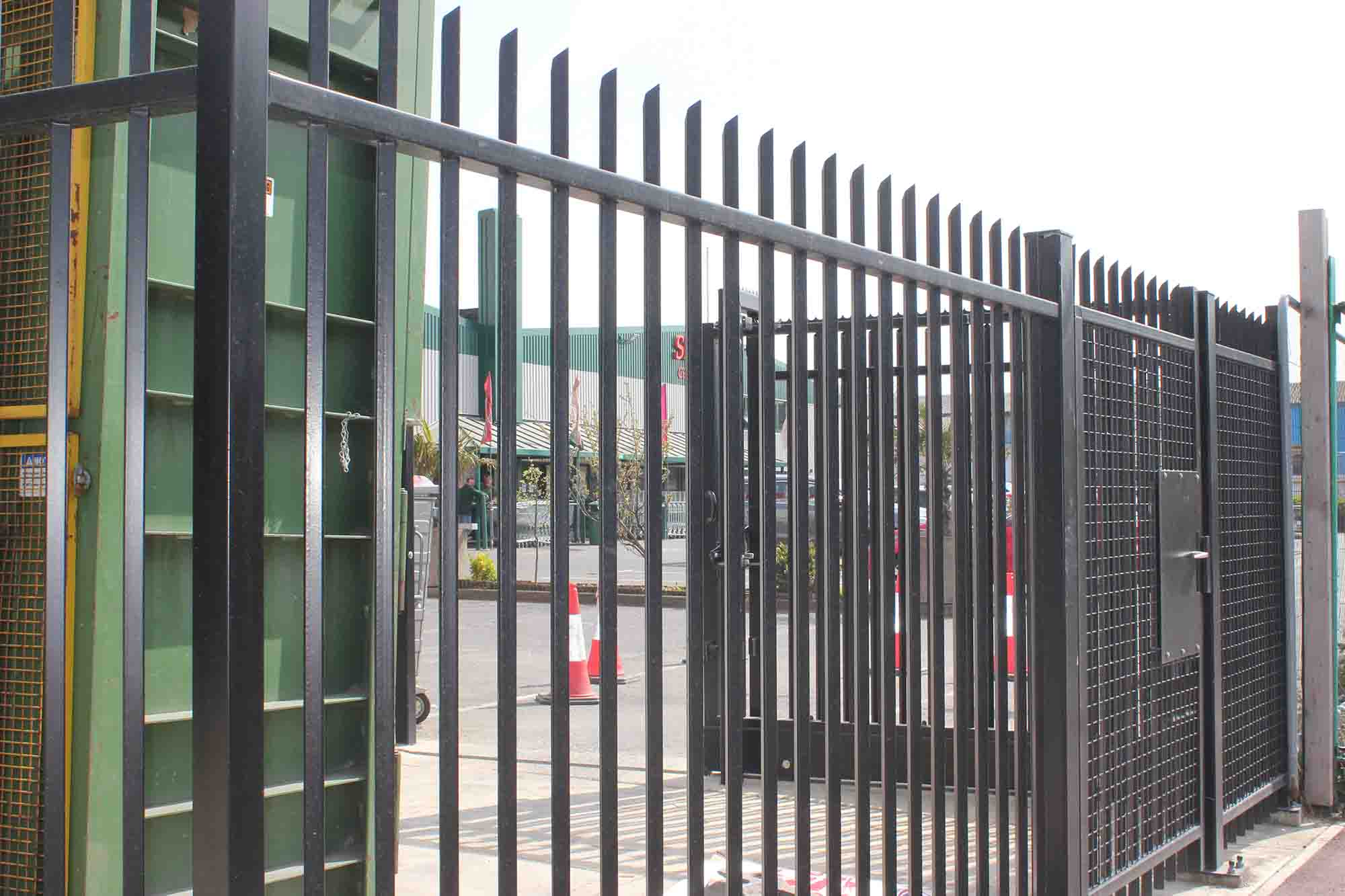 Metal railings commercial property