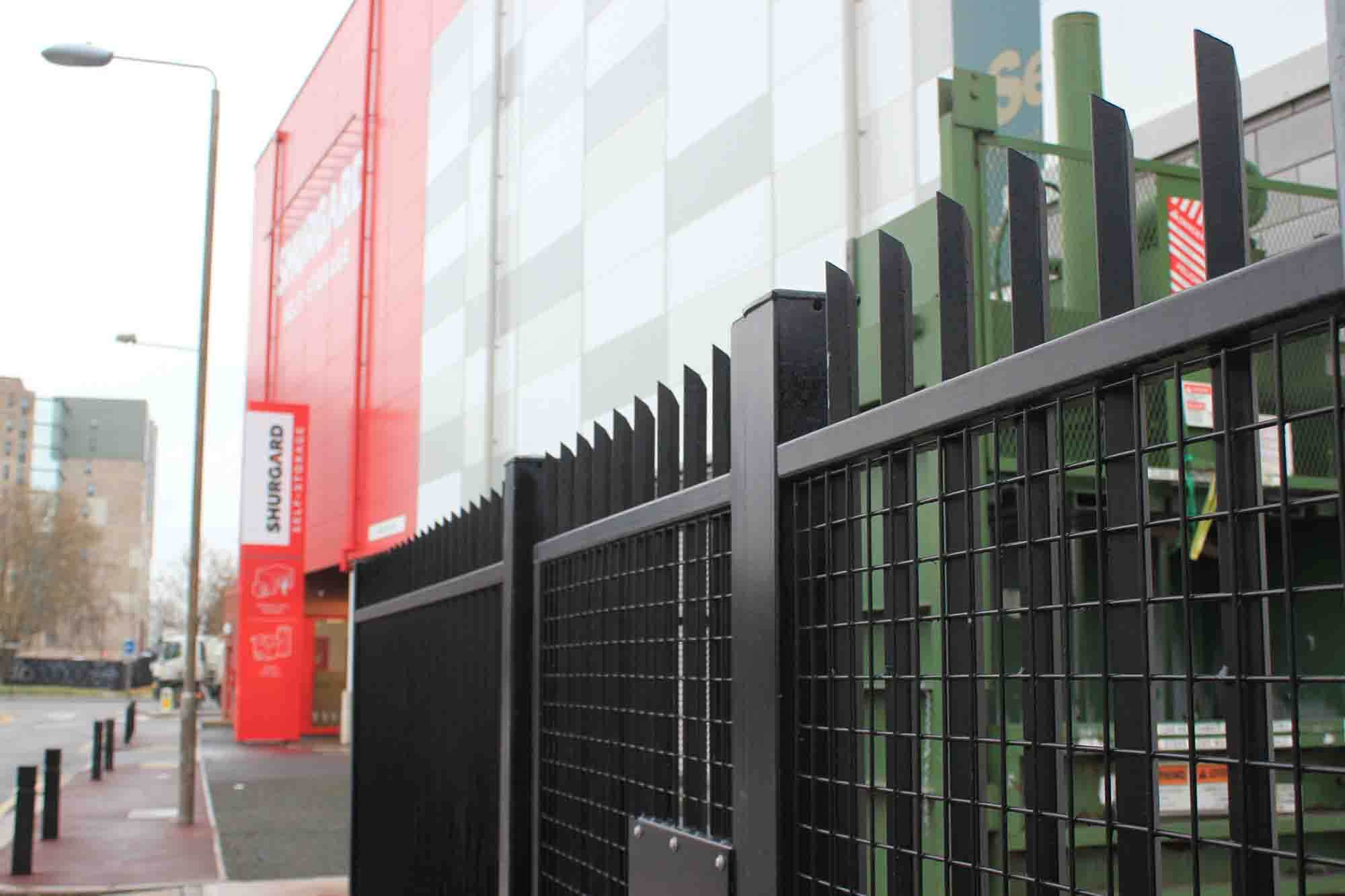 Vertical bar steel fencing