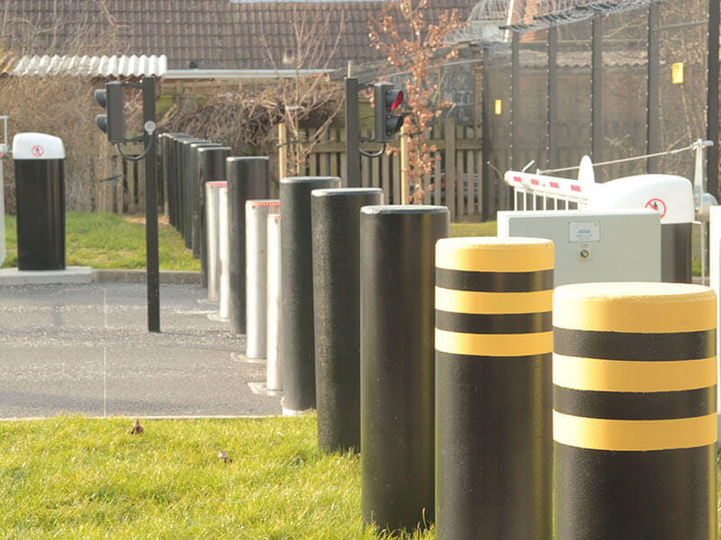 Security bollards for airports