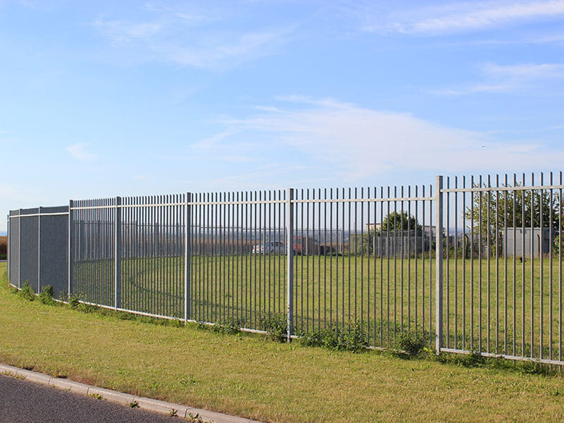 Lorry stop security fencing