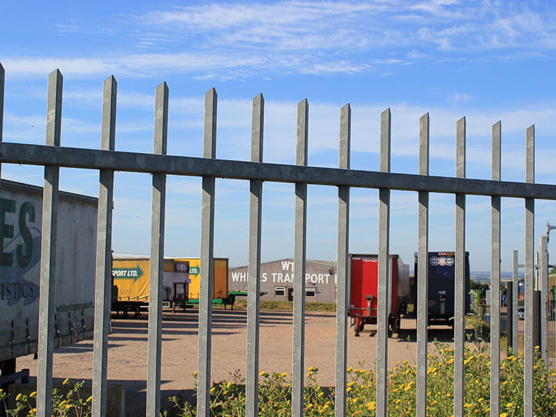 Security fencing for lorry park