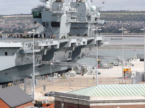 Queen Elizabeth Class Aircraft Carrier in Portsmouth
