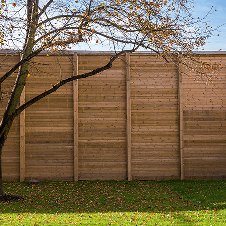 Acoustic fencing reflective
