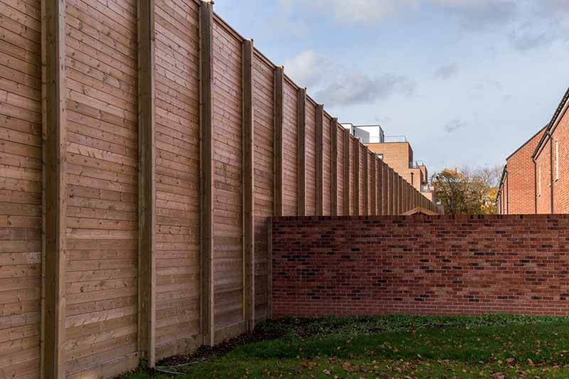 Acoustic barriers housing estate
