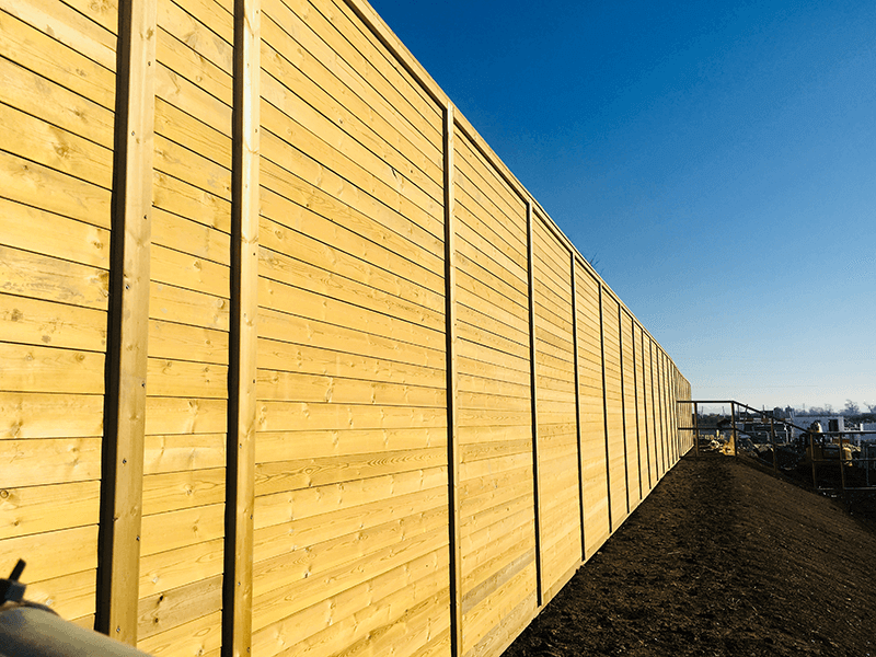 Jakoustic Commercial  Highway Timber Acoustic Fencing