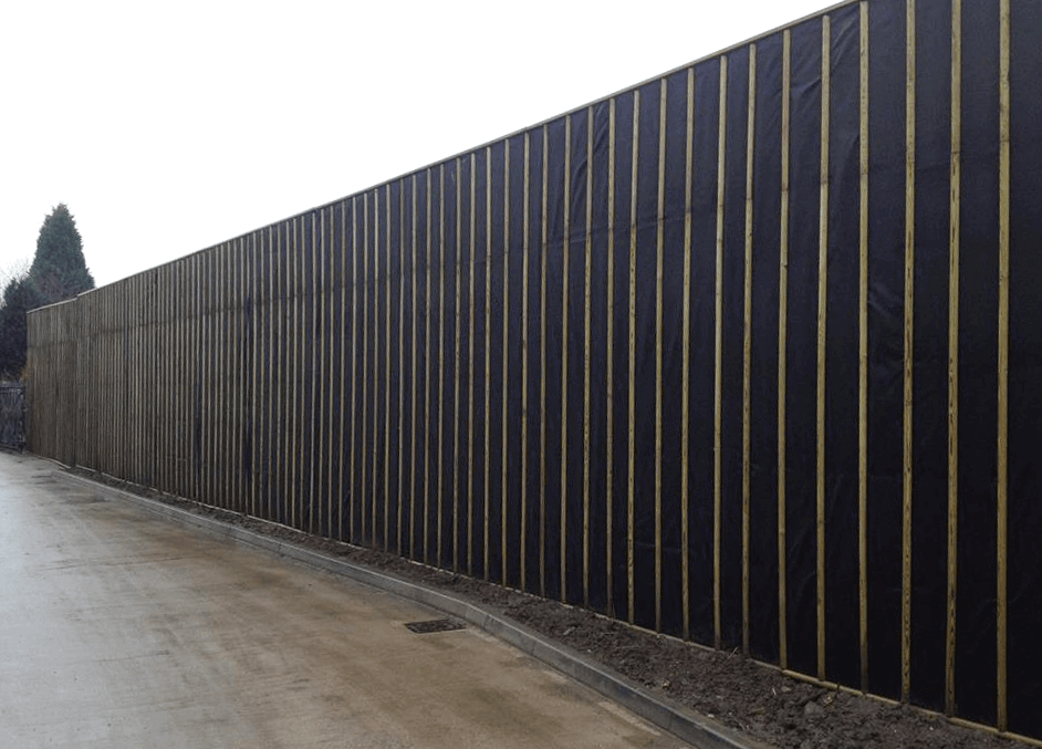 Jakoustic Absorptive Timber Acoustic Fencing