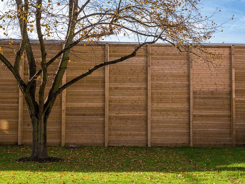 Jakoustic Reflective - Timber Acoustic Fencing