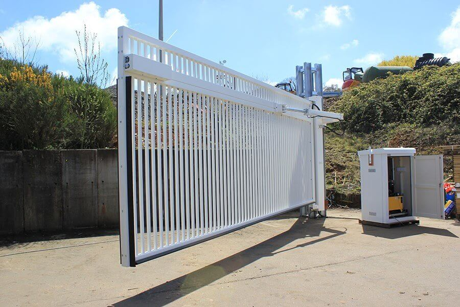 Automated White Swing Gate