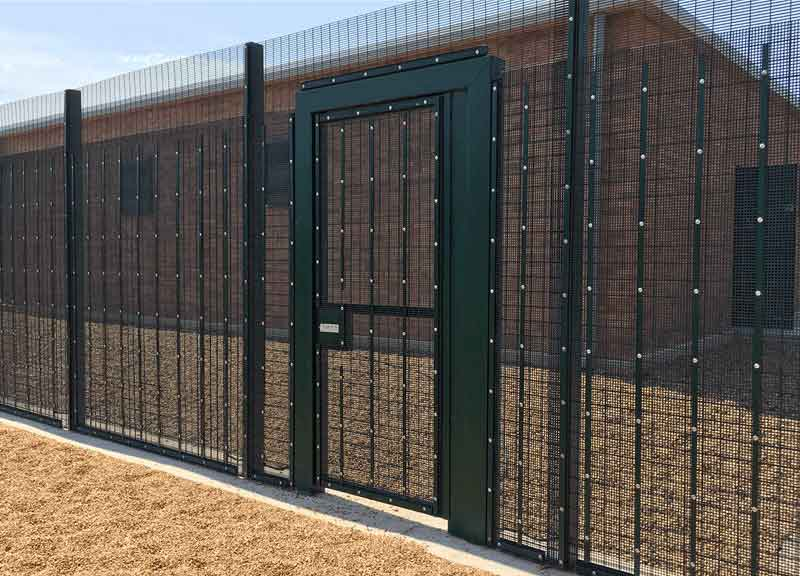 Securi-Mesh PLUS SR2 fencing with pedestrian gate
