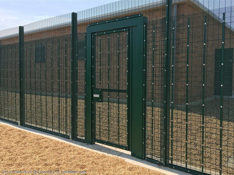 Securi-Mesh PLUS SR2 fencing with matching pedestrian gate