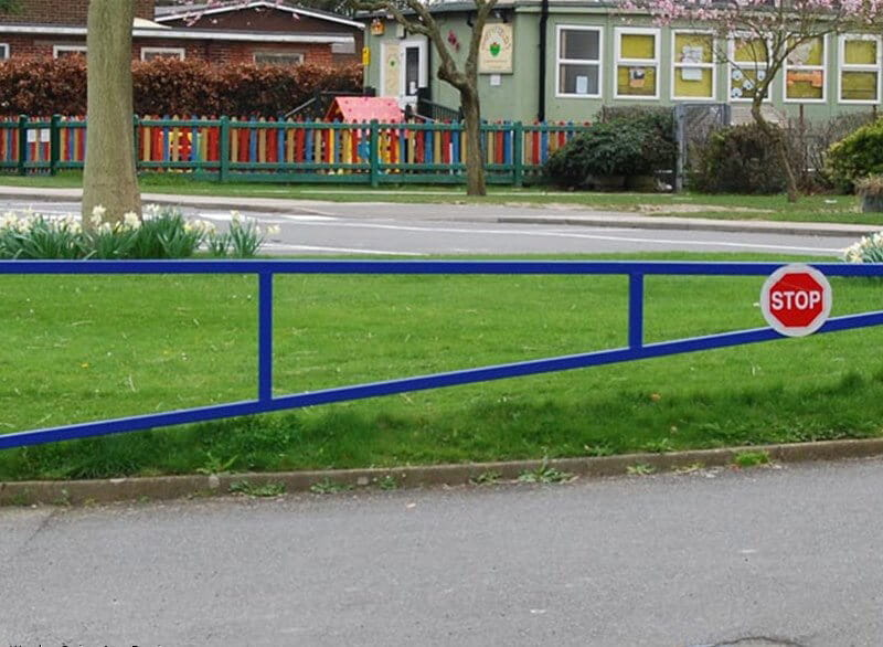 blue warden swing barrier