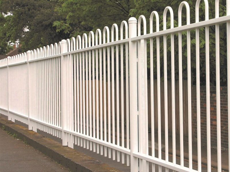 Bow Top Metal Railings