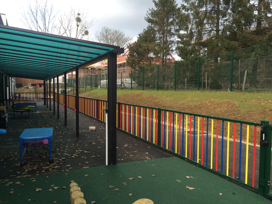 Metal Coloured Playground Fencing