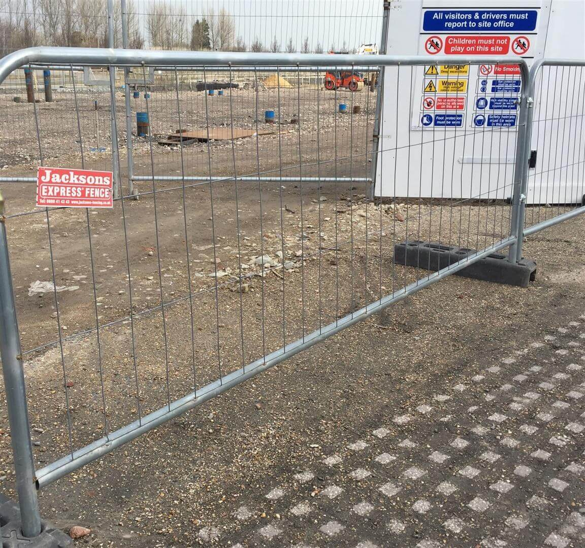 Temporary Pedestrian Panel Protecting Building Site