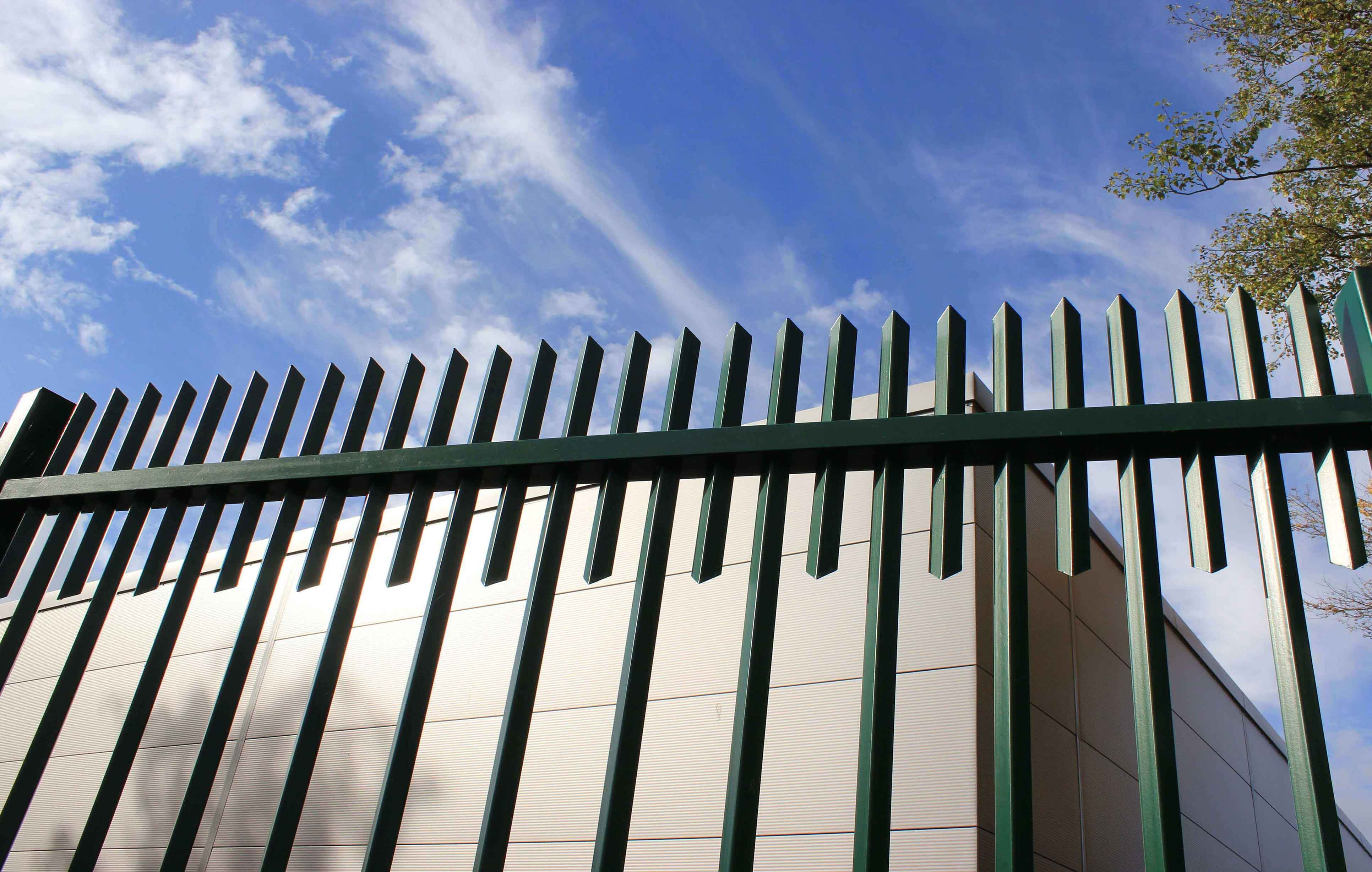 Barbican Extra Green Metal Security Fencing