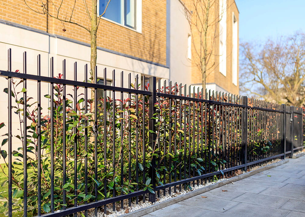 residential vertical bar security fencing