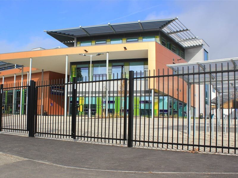 School vertical bar fencing