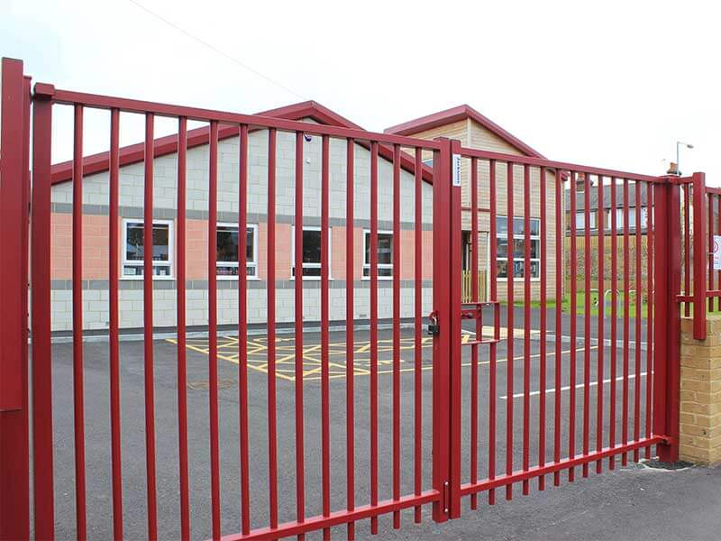Sentry Double Leaf Gate with Bespoke Powder Coating