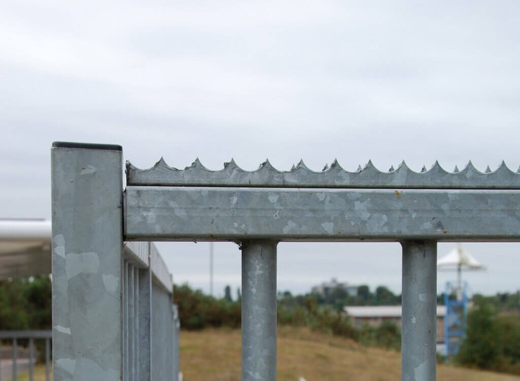 Sentry Security Topping with Galvanised Finish