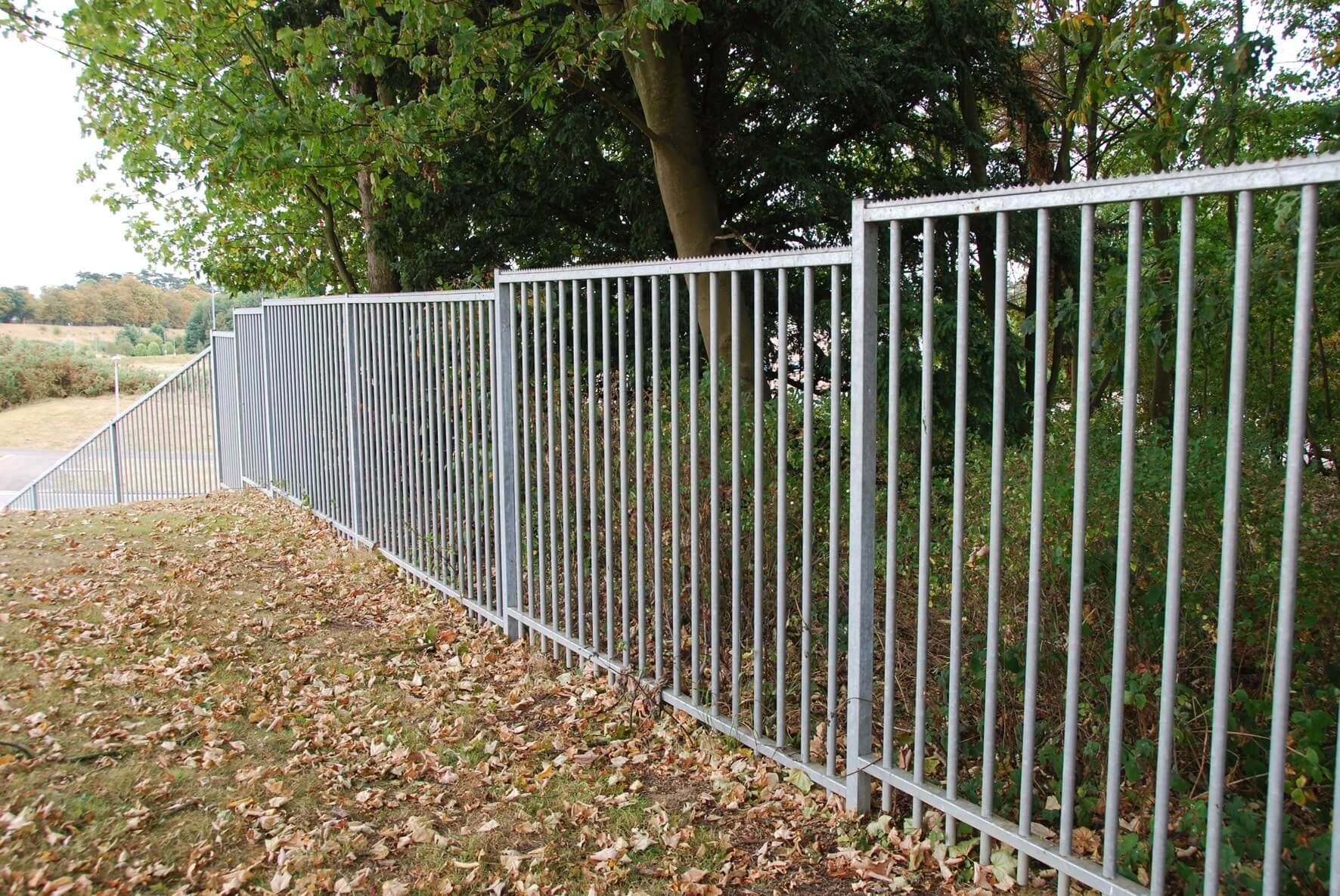 Sentry Vertical Bar Fencing with Galvanised Finish