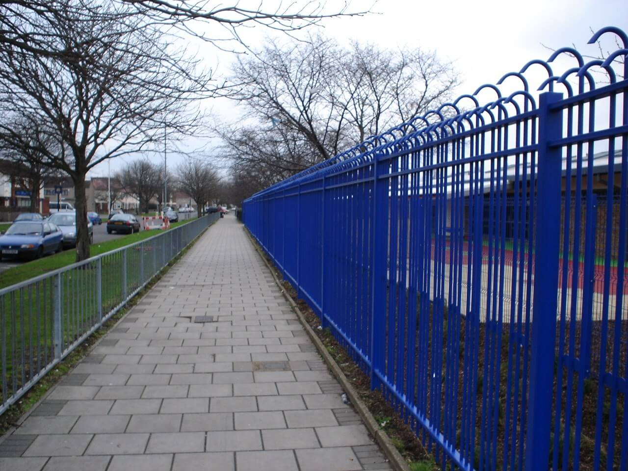 Triguard Security Fencing Blue