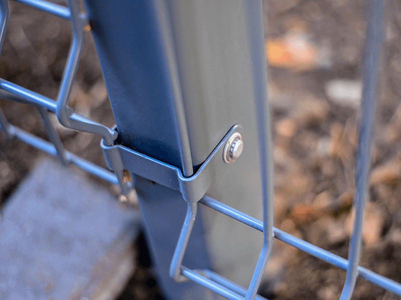 Euroguard Regular V Mesh Fence Post and Fixing