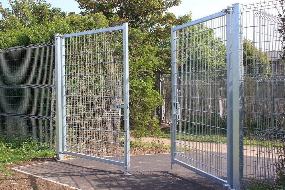 Double Leaf Galvanised Welded Mesh Gates