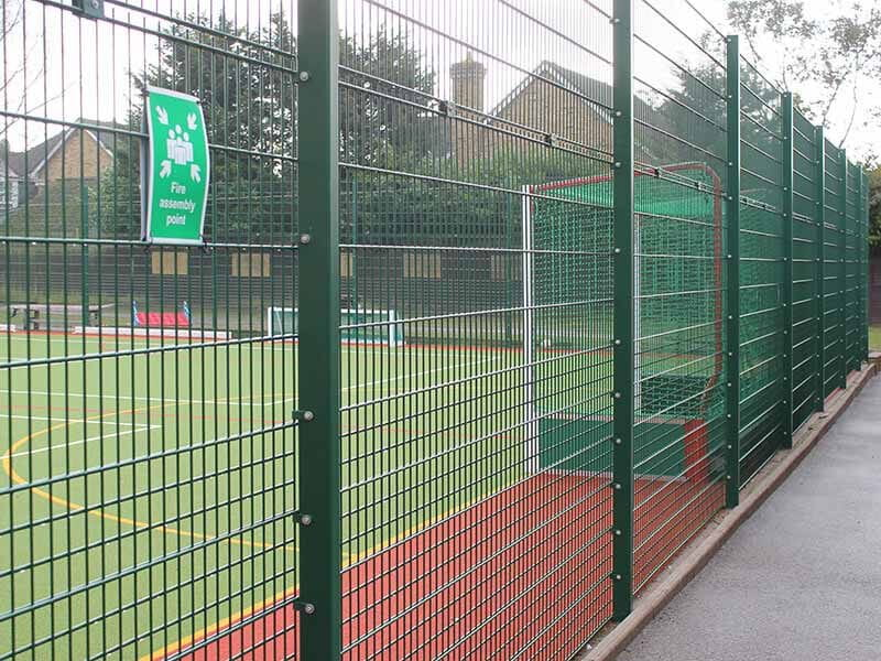 Welded mesh panels for sports