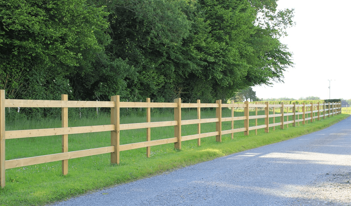 Post and Rail Timber Fencing