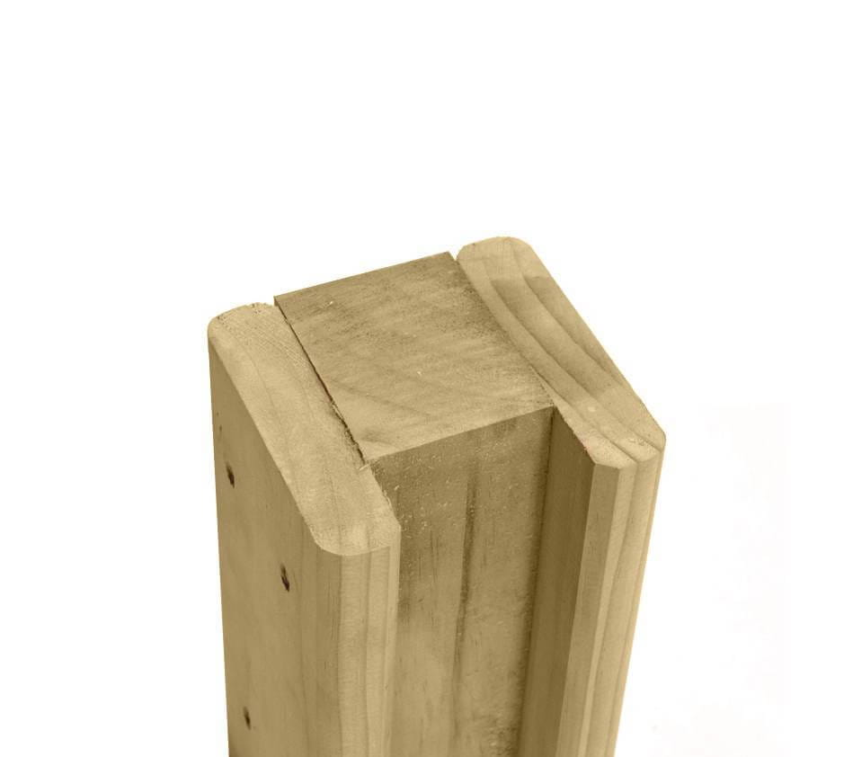 Timber Slotted End Fence Post