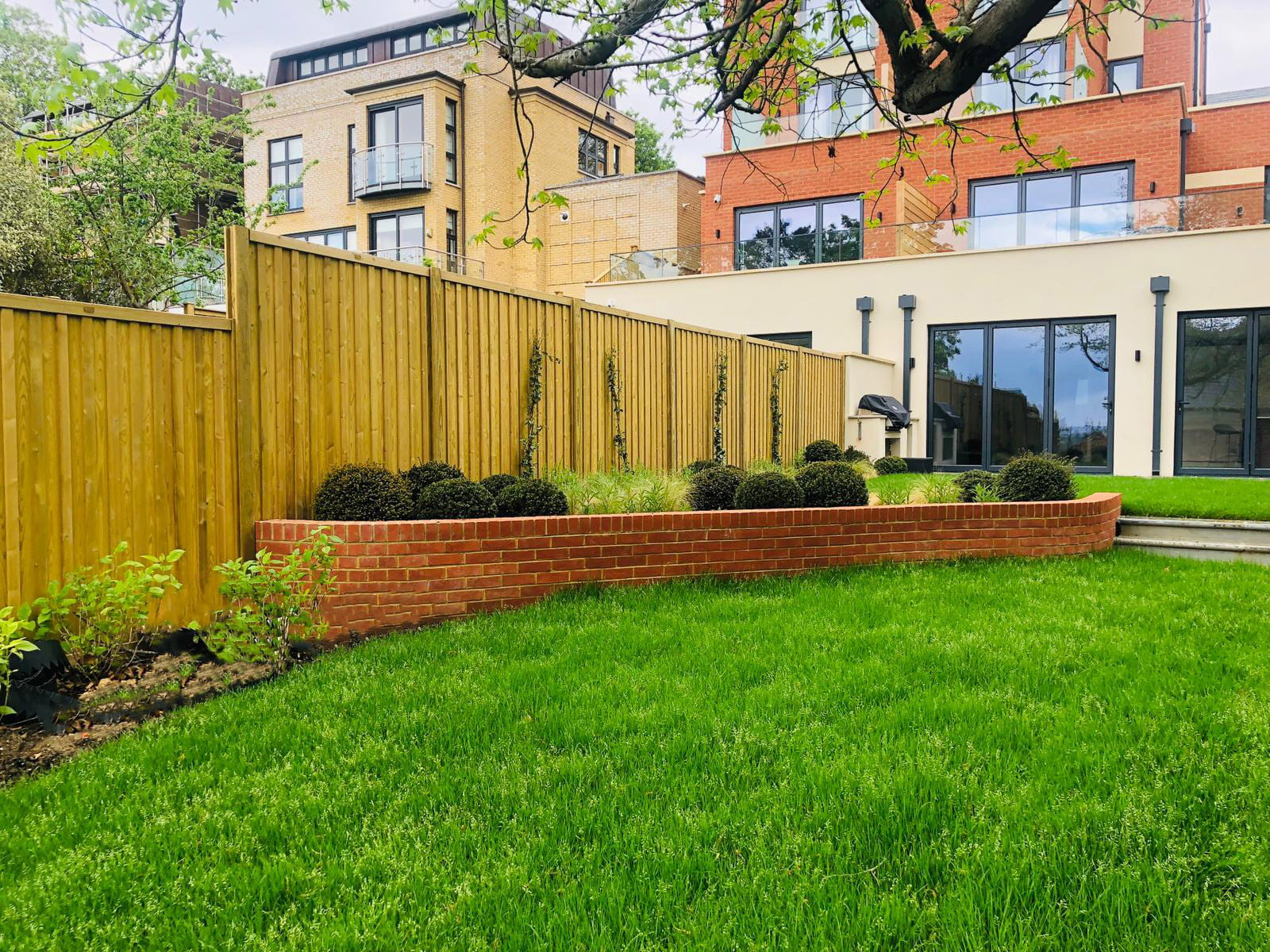 New build house fencing