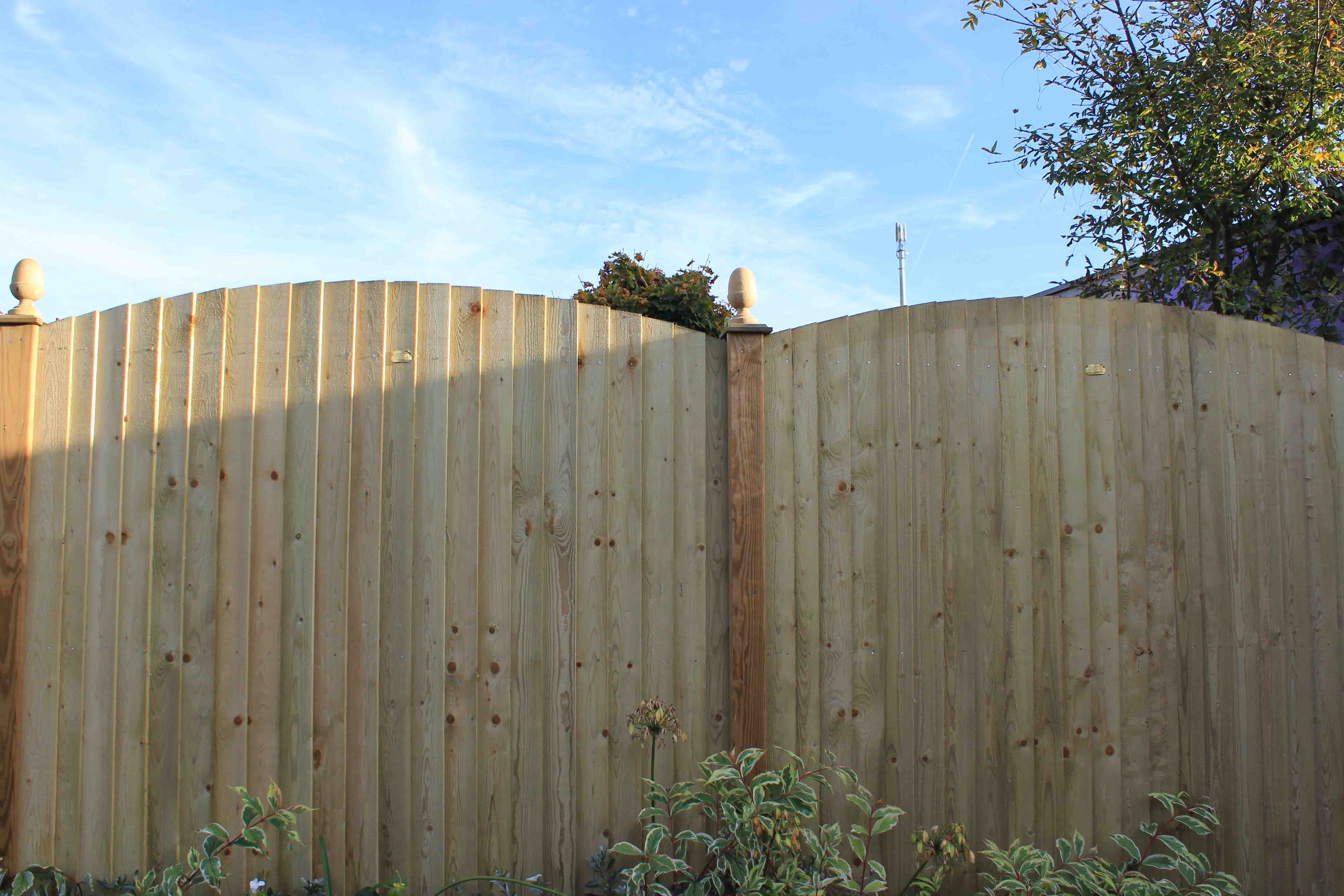 Featherboard fence panels