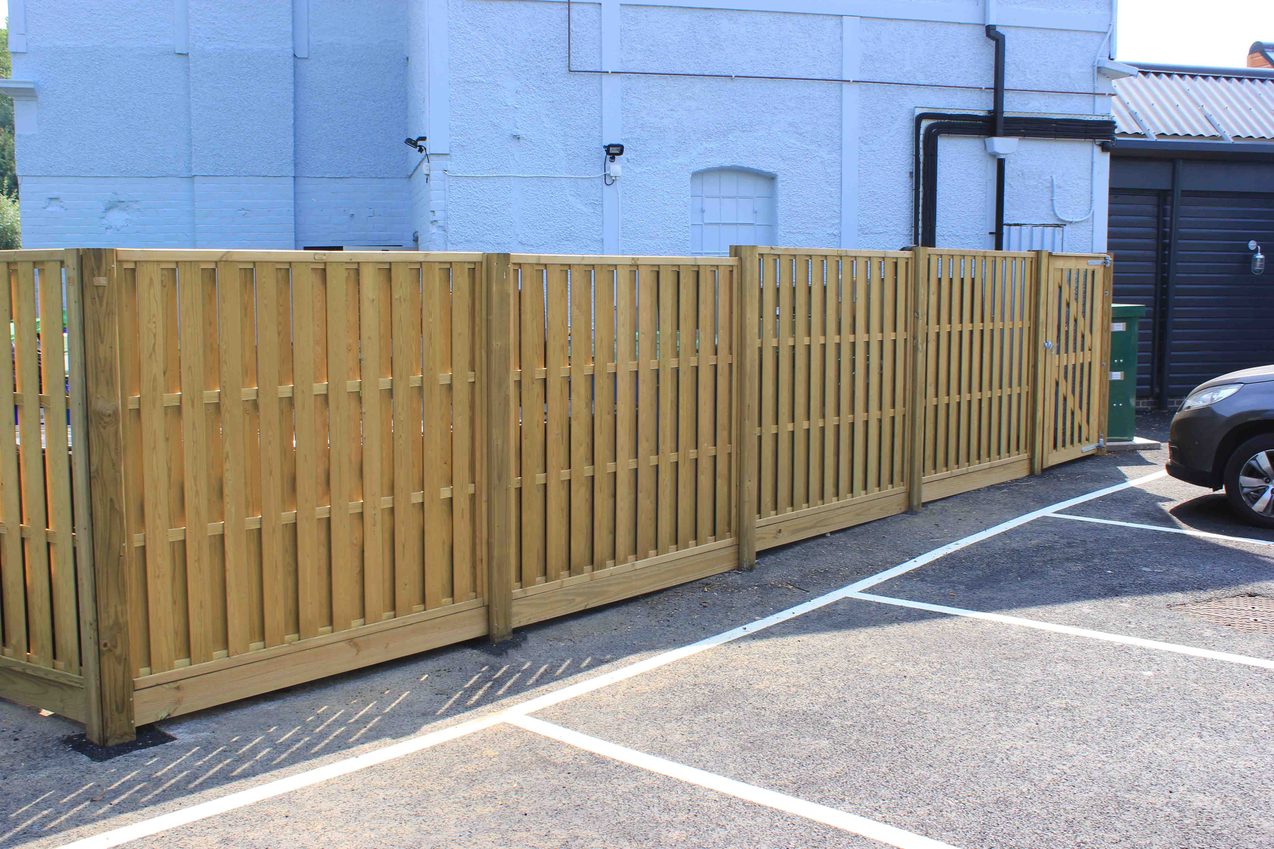 Timber commercial fencing